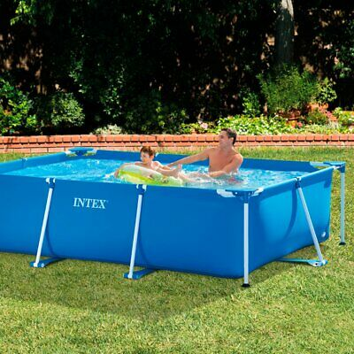 Rectangular Swimming Pool Framed | Large Family Summer Outdoor Fun Garden Intex
