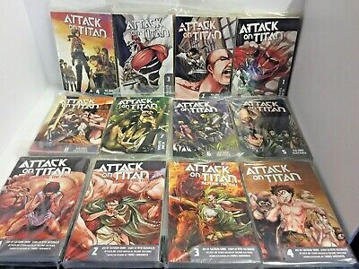 Attack on Titan Manga - AOT 1,2,3,4,5,6,7,8 Before the Fall 1,2,3,4