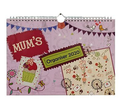 2020 Mum's Family Organiser, Week-to-View with 6 Columns, Wall Planner Calend...