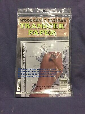 """Wood Transfer Paper: Used For Tracing Designs Onto Wood (8 Sheets - 18"""" x 24"""")"""