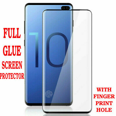 100% Genuine Full Glue Tempered Glass Screen Protector for Samsung Galaxy S10