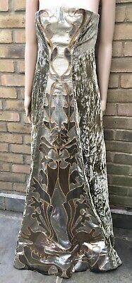 Theatrical Costume Crushed Velvet Flowing Full Length Internal Corset Gown Sz 8