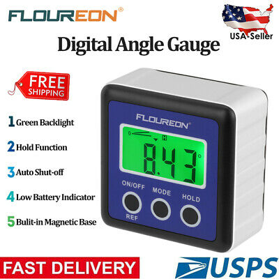 Digital 360° Inclinometer Angle Finder Protractor Gauge Bevel Level Box Meter