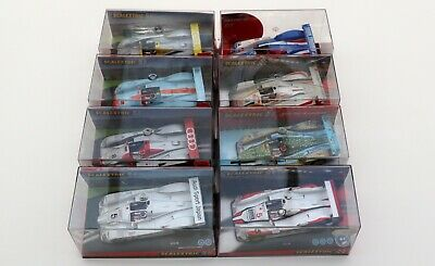 Lot of 8 slot cars SCALEXTRIC AUDI R8 New old stock (Lote de 8 coches nuevos)