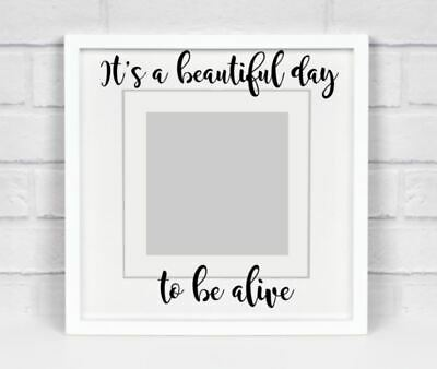 IKEA RIBBA Box Frame Personalised Vinyl Wall Art Its the most wonderful time of