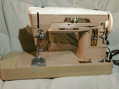 Singer 403A SEWING MACHINE Foot Pedal Portable Case Vintage runs smooth. Clean!