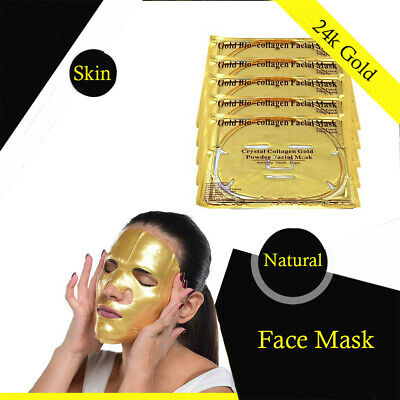 24K Premium Gold Bio Collagen Face Mask - Nourishes, Firms & Hydrates New