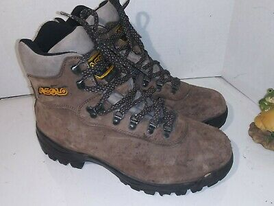 843c26d600620 OLIMPIADI ST. MORITZ Hiking Boots Brown Leather Red Laces Italy MT ...
