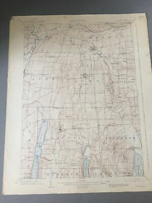 US Geological Survey Topography Map,1904 Quadrangle Honeoye 1907   New York