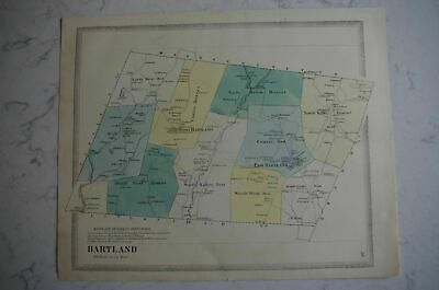Map 1868 Hartland, Connecticut FW Beers