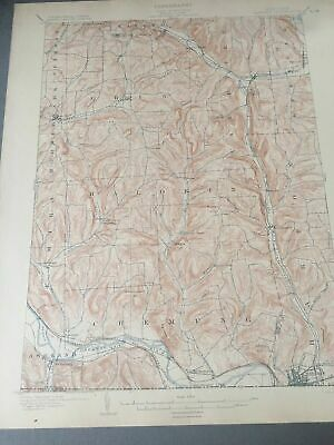 US Geological Survey Topography Map,1902 Quadrangle Waverly New York