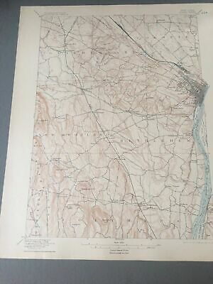 US Geological Survey Topography Map,1905 Quadrangle Albany New York