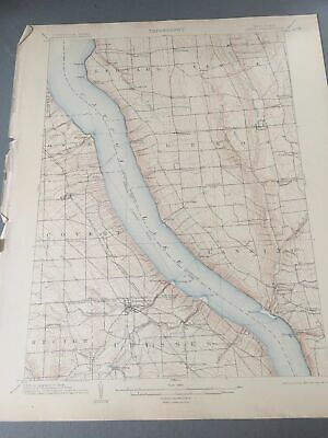US Geological Survey Topography Map,1905 Quadrangle Genoa, New York