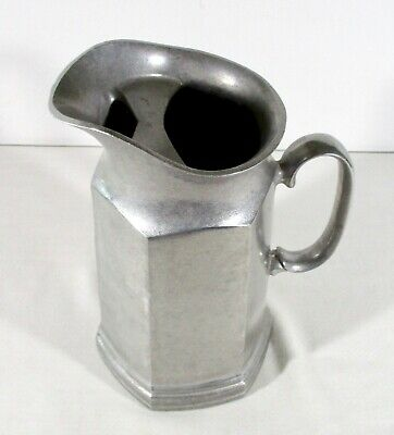 Armetale Pewter Tall Water Pitcher w/ Ice Lip