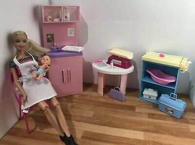 Barbie Playset 👶🏼 Baby Doctor's Office With Dolls & Furniture