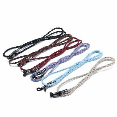 Adjustable Leather Glasses Chain Neck Strap String Rope Band Eyeglass Cord Handy