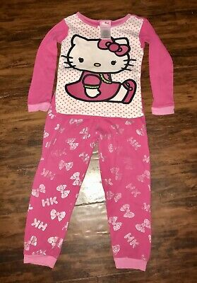 726d303c3 Hello Kitty Youth Girls 2 Piece LS Pajamas Size 5t 100% Cotton Sleepwear