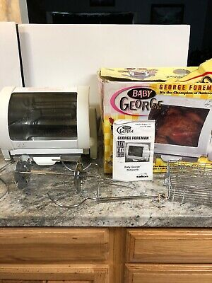 BABY George Foreman INDOOR ROTISSERIE Grill GR59A Chicken Oven Compact Works