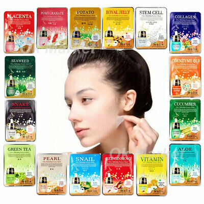 Mask Sheet Pack Facial Wrinkle Skin Care Collagen Moisture Hydrating Anti Aging