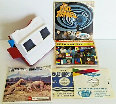 VINTAGE 1960s VIEWMASTER VIEWER REELS WORLD'S FAIR TIME TUNNEL PARTRIDGE FAMILY