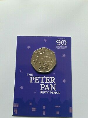 New British Isles 2019 Peter Pan 50p BUNC UK Coin Hunt Collectable