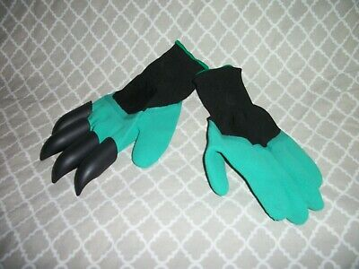 Gardening Garden Genie Gloves With 4 ABS Plastic Claws For Digging & Planting