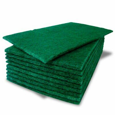 Green Scouring Pads Extra  Heavy Duty Cleaning Scrubbing Pads Scourers- Thicker
