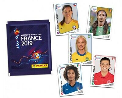 PANINI Women / COUPE DU MONDE FOOTBALL FRANCE 2019 : LOT de 20 IMAGES STICKERS