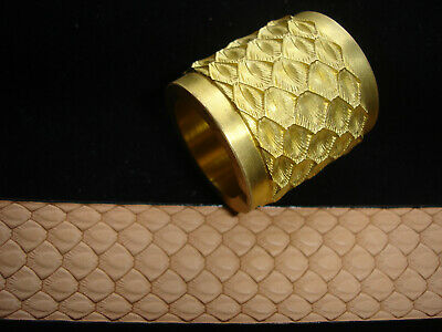 Leather Embossing Machine Roll***  NEW *** Dragon Scales Design Brass