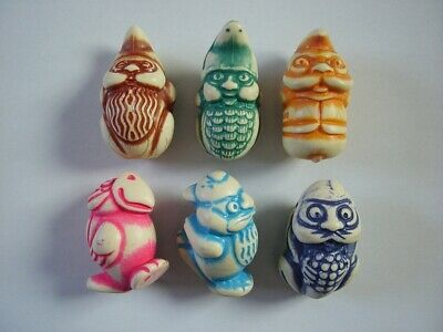 KINDER SURPRISE SET STONE FIGURINES ANIMALS DWARFS GNOMES TOTEMS 1998 FIGURES