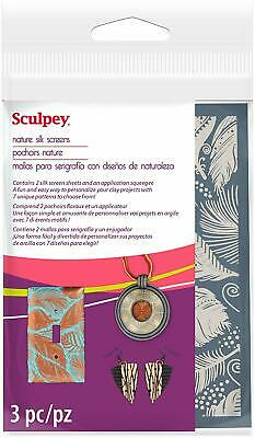 Sculpey Silk Screen  - 2 Reuseable Silk Screens -  Nature - New!