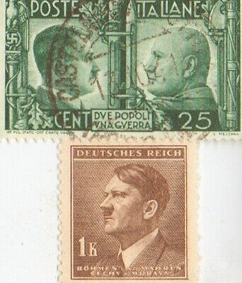 *free *WW2-*german 'PW' card in FRANCE +*Italian STAMPS+*ger. SILVER EAGLE coin