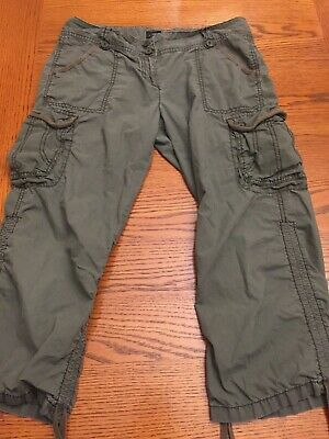 The Limited Drew Fit Women Cargo Capris Cropped Pants Size 10 Casual Pants