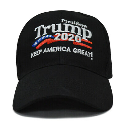 GOP-Donald Trump 2020 Keep Make America Great Again Cap Embroidered Hat Black US