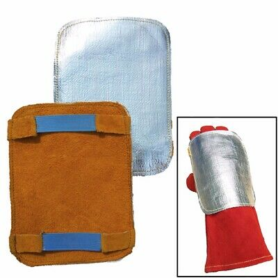 2pcs Welding Soldering Gloves Heat Shield Gloves Saver Shield Protector Gear US