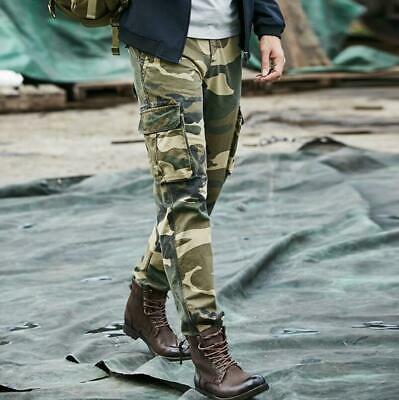 Mens Summer Military Army Cargo Tactical Combat Trousers Camouflage Work Pants