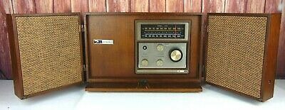 Vintage GE General Electric Accent Line Fold Up am/fm Radio Retro Shelf WORKING