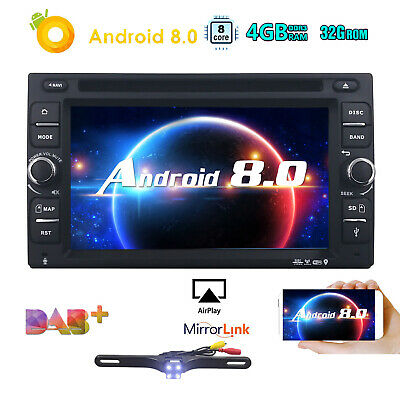 "Android 8.0 6.2"" 2Din Car DVD Player Stereo Radio GPS Wifi 4+32GB 8-Core+Camera~"