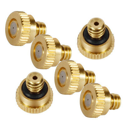 """Brass Misting Nozzles Water Misters Sprinkle for Cooling System 0.012"""" 10/24"""