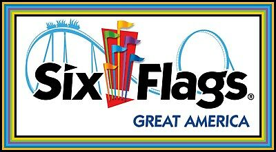 *** SIX FLAGS GREAT AMERICA *** Child Youth Ticket Chicago Gurnee, IL ***