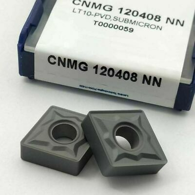 10pc CNMG 120408 NN carbide inserts CNMG 432 cutting turning indexable blade CNC