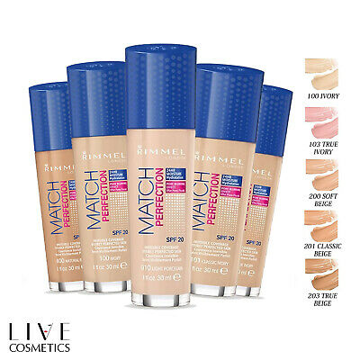 Rimmel Match Perfection Foundation, Light Coverage Spf20 *Choose Your Shade*