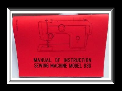 Janome New Home Model 636 ZigZag Sewing Machine Instruction Manual Booklet