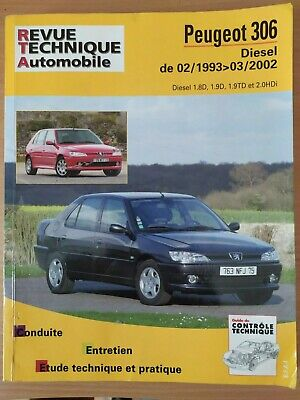 Revue Technique Automobile RTA PEUGEOT 306 Diesel