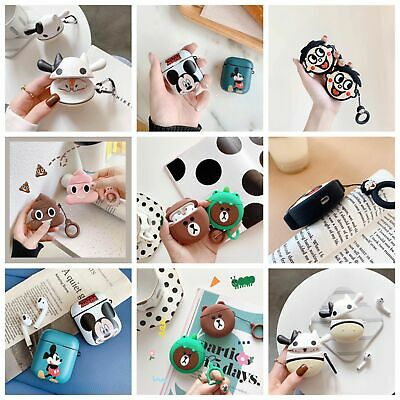 Cute Disney Cartoon Earphone Silicone Case Cover for apple Airpods Charging Case