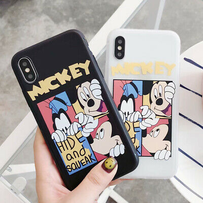 For iPhone X 6 7 8 Plus Mickey Gao Fei Disney Protection Silicone TPU Case Cover
