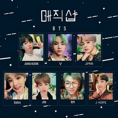 7PCS BTS FM 5th Muster Collective Photocards Lomo Cards BANGTAN BOYS Mini Cards