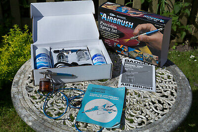 Badger B200-3 Airbrush Set. Siphon Feed. New in Box. Plus Another Used Airbrush
