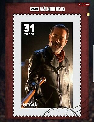 The Walking Dead Card Trader Topps Postage Negan 22c