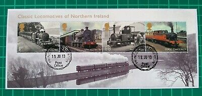2013 Classic Locomotives Of Northern Ireland Miniature Sheet Used On Paper
